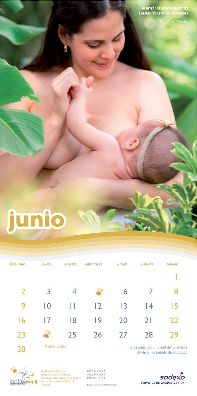 Calendario lecheymiel - Mes de Junio